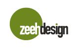 Logo ZeehDesign med grøn punkt